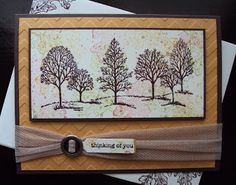 Stampin Up - Idea for fall usin Lovely as a Tree