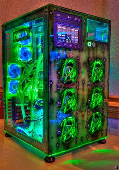 Not only does this glowing computer look solid on the outside, its innards are something to shout about with an Intel Core i7 975 Extreme Edition processor, a couple of nVidia GeForce GTX 295 graphics cards running in SLI mode, a whopping 12GB DDR3 RAM, a 2.5 TB hard drive, a Logitech G19 gaming keyboard, a custom Razer Boomslang mouse and 13 video games pre-loaded to get you started right out of the box.