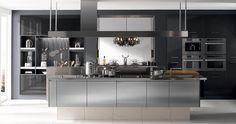 Cuisine i800 Inox Line - V200 Verni Carbone brillant Perene Lyon