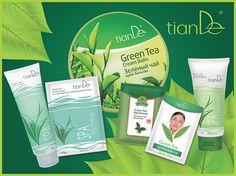 produits de beauté au thé vert