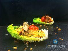 El nhem tadeua es un plato clásico de Laos donde el arroz esta jugoso y crujiente a la vez   http://kcy.me/289jz