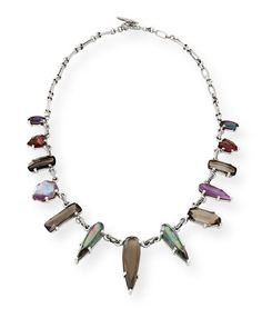 Stephen Dweck Verona Silver Triplet Collar Necklace