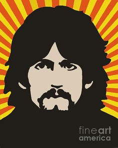 George Harrison Pop Art by Rosemary Vasquez Tuthill Beatles Art, The Beatles, George Harrison, Pop Art, Greeting Cards, Ads, Fine Art, Wall Art, Painting