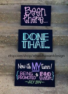 Cutest announcement EVER for 4th baby!! Custom HandPainted 10x15 CHALKBOARD unique by WhatchawantDesign