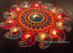 Rangoli Design Ideas & Images For Diwali & Happy New Year Rangoli Designs Peacock, Indian Rangoli Designs, Rangoli Designs Latest, Simple Rangoli Designs Images, Rangoli Border Designs, Rangoli Patterns, Colorful Rangoli Designs, Rangoli Ideas, Beautiful Rangoli Designs
