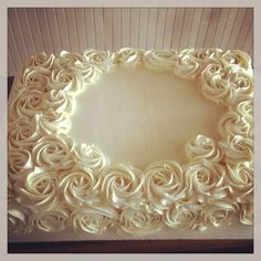 Buttercream rose birthday cake @ Cami's Cake Co. in Eudora, KS www.facebook.com/camiscakeco