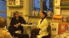 Paola Cortese et Amanda Castello. Librairie Di Pellegrini, Mantoue, Italie.