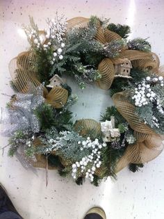winter wreath by kristymichaels holiday - Michaels Christmas Wreaths