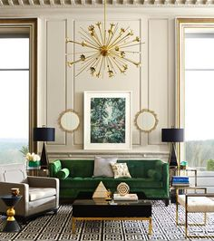 How to get the Art Deco Aesthetic in Your Living Room via Simply Grove