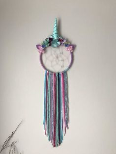Unicorn dreamcatcher, dreamcatcher, unicorn, magical, unicorn decor, unicorn wall hanging, unicorn theme, unicorn decoration