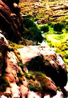 """Los lugareños dice """"camino i piegra"""" y el sendero pedregoso se abre camino rumbo al valle que lo espera."""