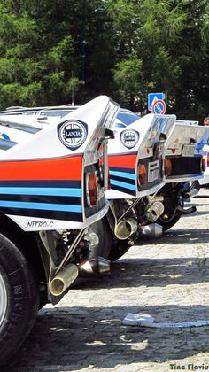Lancia Martini Rally Cars Lined Up. ★。☆。JpM ENTERTAINMENT ☆。★。