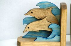 Dolphin Bookends by JCsWoodCreations on Etsy
