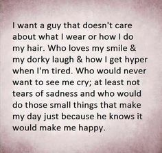 I want a guy