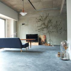Home Living Room Small Interior Design Ideas Gray Interior, Cafe Interior, Living Room Interior, Home Living Room, Pretty Things, Casa Patio, Japanese Interior, Home Office Decor, Home Decor