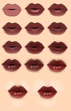Lips tutorial by ryky.deviantart.com on @deviantART