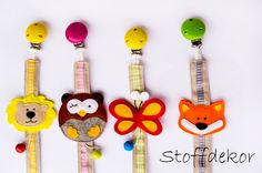 Schnullerbänder - Schnullerband - ein Designerstück von Stoffdekor bei DaWanda