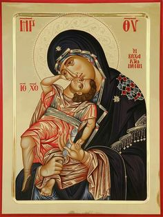 High quality hand-painted Orthodox icon of Panagia Axion Estin (halo relief). BlessedMart offers Religious icons in old Byzantine, Greek, Russian and Catholic style. Byzantine Icons, Byzantine Art, I Icon, More Icon, Religious Icons, Religious Art, Church Icon, Paint Icon, Jesus Pictures