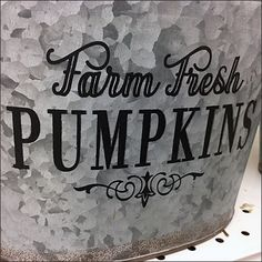 "These Farm Fresh Galvanized Buckets and Pails are personalized by plant and ""Farm Fresh"" for emphasis. The usefulness of these as quick Fall propping."
