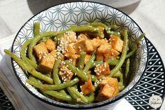 Wok de haricots verts et tofu grillé, sauce asiatique aux arachides - La Fée Stéphanie