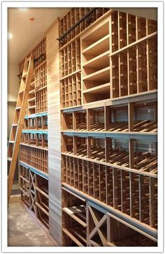 Eddie Merlot's has a new resto with a wine cellar all decked out in our Platinum Series! Wine Vault, Wine Cellar Basement, Home Wine Cellars, Wine Cellar Design, Wine Down, Transitional House, Restaurant Interior Design, Wine Storage, Metal Wall Decor
