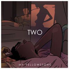 "Portada del álbum de My Yellowstone ""TWO"" (por arilo.es) // My Yellowstone's album cover ""TWO"" (by arilo.es) Album Covers, No Worries, Movie Posters, Movies, Fictional Characters, Musica, Sash, Illustrations, Films"