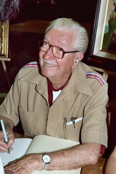 Carl Barks (March 27, 1901 – August 25, 2000) was an American cartoonist, author, and painter. He is best known for his comics about Donald Duck and as the creator of Scrooge McDuck. He worked anonymously until late in his career; fans dubbed him The Duck Man and The Good Duck Artist. In 1987, Barks was one of the three inaugural inductees of the Will Eisner Comic Book Hall of Fame.