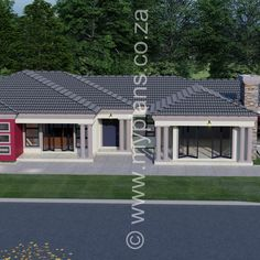 6 Bedroom House Plans – My Building Plans South Africa Round House Plans, Family House Plans, Dream House Plans, 6 Bedroom House Plans, 5 Bed House, House Plans South Africa, 2 Storey House Design, Beautiful House Plans, Village House Design