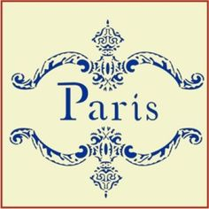 Paris Frame Stencil | Paris, France | Gorgeous French and Victorian home decor and crafting stencil from The Artful Stencil! US Shipping in only 5 days. We ship all over the world.