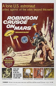 One of those melancholy movies that gets better with repeated viewings.  Robinson Crusoe on Mars, 1964.