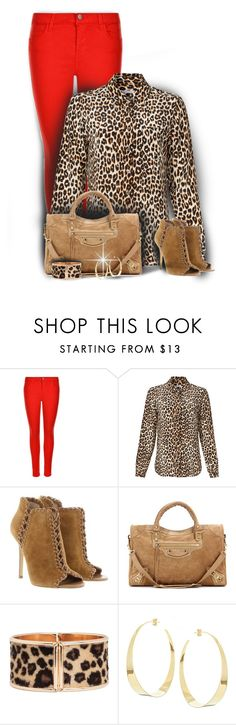 """Red Bottoms~Contest"" by cindycook10 ❤ liked on Polyvore featuring J Brand, Equipment, Michael Kors, Balenciaga and Lana"