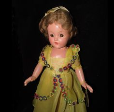 15 inch All Original Effanbee F&B Little Lady Doll W/Tag And Original Gown