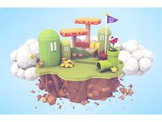 Mario Island by Timothy J. Reynolds