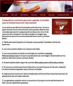 No te pierdas la oportunidad de ganar 2 entradas para asisitir a la edición 2012 del Festival Gourmet Internacional http://esnobgourmet.com/2012/07/09/fotografia-tu-momento-gourmet-y-ganate-2-entradas-para-el-festival-gourmet-internacional/
