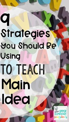 Helping upper elementary students identify the main idea and supporting details is a key reading skill. This post offers specific tips and strategies to help - grades identify the main idea more easily! Third Grade Writing, Reading Test, Third Grade Reading, Reading Skills, Teaching Reading, Reading Response, Reading Activities, Guided Reading, Second Grade