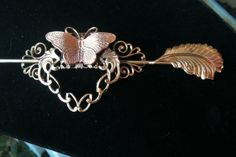 Antique Hair Accessory Vintage Brass and by VintageMemoryJewelry, $85.00