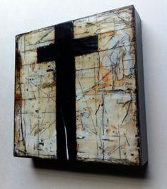"""Original Encaustic Painting on Wood - """"Penta Geist"""""""