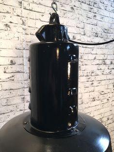 Black Enamel Factory Lamp Industrial Lamps, Black Enamel, Black Polish