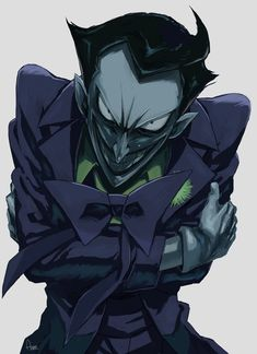 This Joker resembles the Joker from the 1990's animated Batman cartoon. (The best versions there is.)