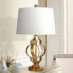 Karim Gold and Mirrored Table Lamp