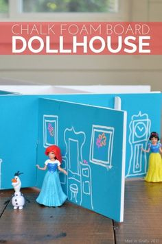 Dollar Store Crafts » Blog Archive » Make Chalk Foam Board Dollhouse