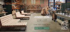 Stoere design loungebank voor in de tuin - Nieuwe Wonen