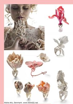 Flora by Alidra Alic #jewelry #contemporary #ceramic