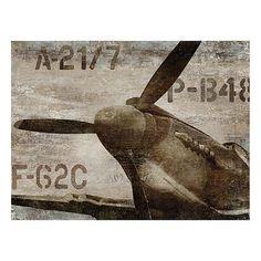 Vintage Airplane Wall Art