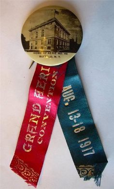 Fraternal Order of Eagles Grand Aerie Convention Aug 18 13 1917 New York Pin   eBay