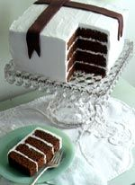 Four Layer Gingerbread Cake with White Chocolate Butter Cream