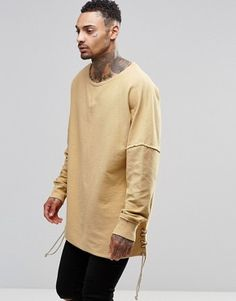 Granted Oversized Sweatshirt With Laced Sides