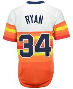 Mitchell & Ness Men's Nolan Ryan Houston Astros Authentic Jersey