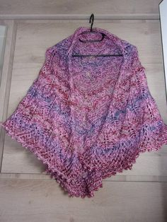 Big shawl heater shoulder, hand knitted, bright pink, blue, Burgundy, purple  color, point openwork leaves, one size for women 96080d1f47a