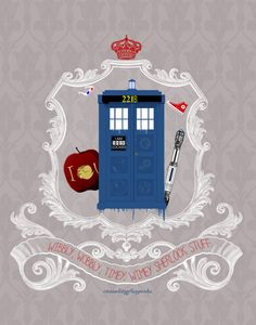 """This is a merged Doctor Who and Sherlock """"Wholock"""" fan art poster! my design. Comes on a glossed poster paper that measures 11x14"""""""